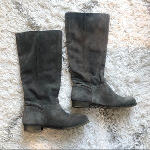 Nine West Grey Suede Pull-On Boots